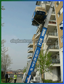 Crane Hoist - Specialists Furniture Removals Company